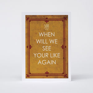 'When Will We See Your Likes Again' Card - retirement cards