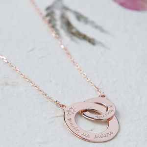 Personalised Rose Gold Plated Intertwined Necklace - gifts for her