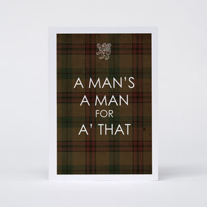 'A Man's A' Man' Card - view all father's day gifts