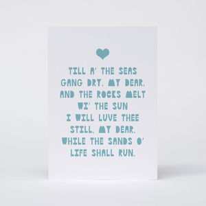 'Til A The Seas Gang Dry' Card - wedding cards & wrap