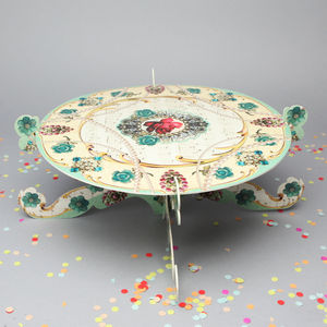 Afternoon Tea Single Tier Cake Stand - cakes & treats