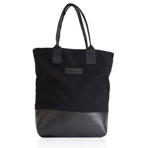 Reclaimed Rubber And Canvas Tote Bag