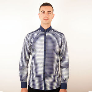 Blue And White Horizontal Stripe - shirts