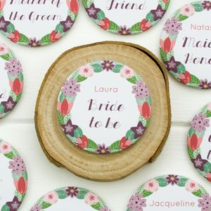 Personalised Hen Or Wedding Party Badges