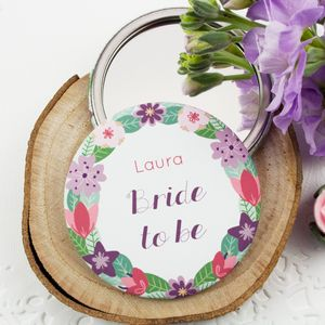 Personalised Wedding Party Mirrors - compact mirrors