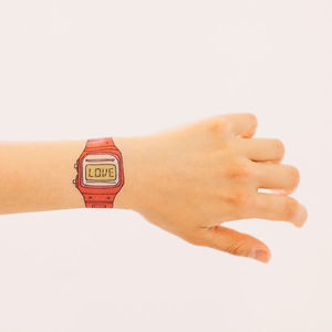 Love Themed Watch Tattoos