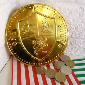 Giant Chocolate One Pound Coin - chocolates & confectionery
