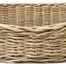 Greywash Oval Rattan Pet Basket