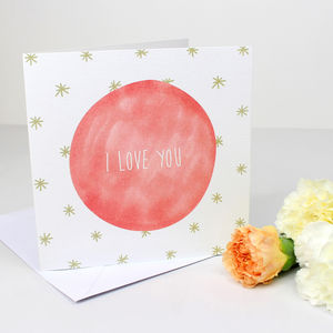 I Love You Greetings Card - view all sale items