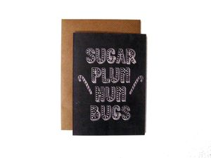 'Sugar Plum Hum Bugs' Name In Lights Chalkboard Card - cards & wrap