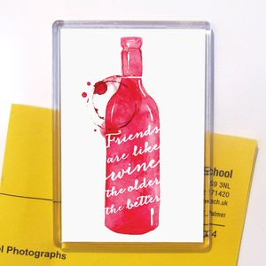 'Friends Are Like Wine' Magnet Stocking Filler