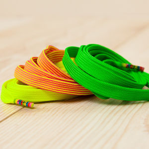 Three Pairs Of Neon Shoelaces - women's fashion