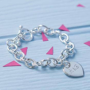 Lovers' Personalised Silver Link Bracelet