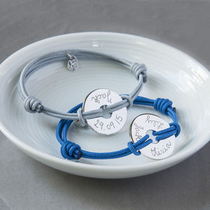 Personalised Open Disc Bracelet