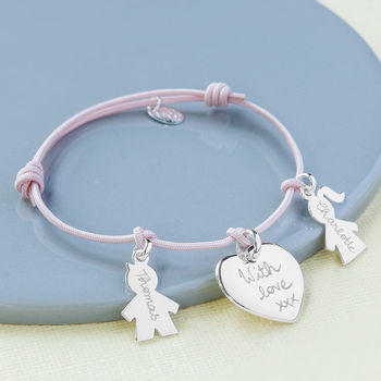 Personalised Sterling Silver Family Charm Bracelet