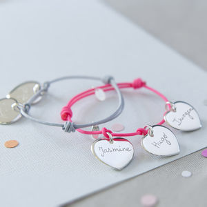 Personalised Heart Charm Bracelet - mother's day jewellery edit