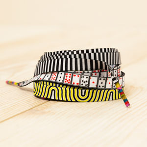 Playing Cards, Waves And Stripes Shoelaces Pack