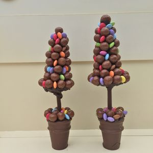 Personalised Maltball And Smarties Christmas Tree - food & drink