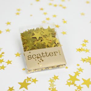 Gold Star Table Confetti - confetti, petals & sparklers