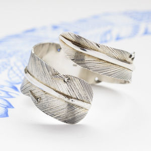 Handmade Sterling Silver Feather Cuff