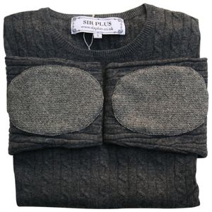 Charcoal Cashmere And Merino Wool Blend Cable Jumper