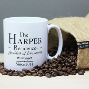 Personalised 'Fine Warm Beverages' Mug