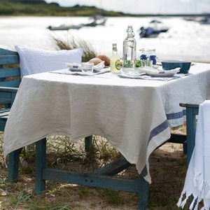 Stripe Linen Tablecloth - kitchen