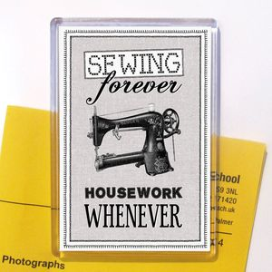 'Sewing Forever' Magnet