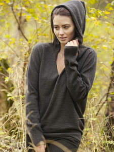 Pure Merino Wool Hoodie - women's fashion