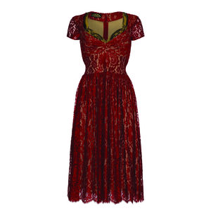 Annie Dress In Ruby Lace - dresses