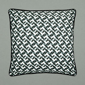 Geometric Chains Screen Printed Cushion