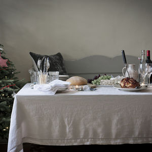 Washed Linen Tablecloth - kitchen