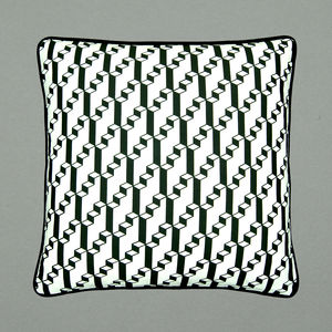 Geometric Cubes Screen Printed Cushion