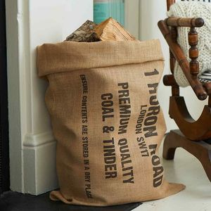 Personalised Tinder Sack - cosy nordic living room