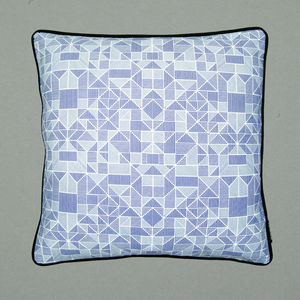 Geometric Lines Screen Printed Cushion
