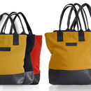 Reclaimed Rubber / Canvas Tote Bag *New Low Price