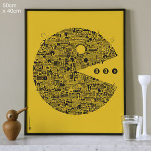 Typographic 1980s Print - view all sale items