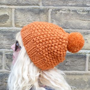Chunky Knit Bobble Hat - hats, scarves & gloves