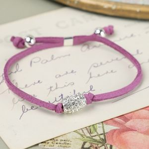 Mulberry Cord And Sparkle Bead Bracelet - women's sale