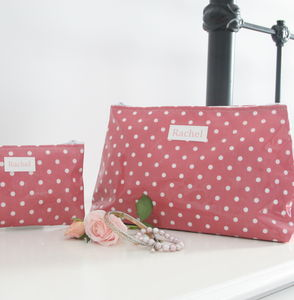 Personalised Washbag And Jewellery Pouch