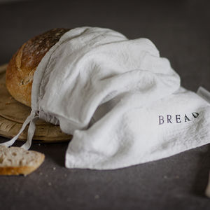 Linen Bread Bag - home sale