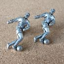 Pewter Footballer Cufflinks