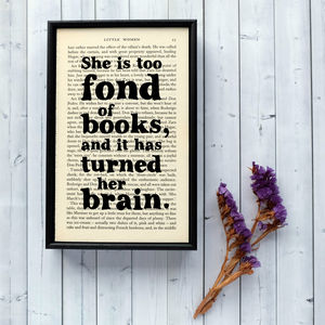 Book Lover Gift Literary Print - home accessories