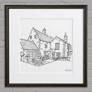 Personalised House Line Illustration - posters & prints