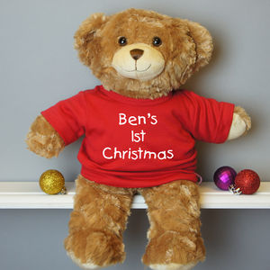 Personalised First Christmas Bear - teddy bears