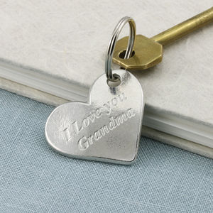 Love You Grandma/Granny Heart Keyring - gifts for her