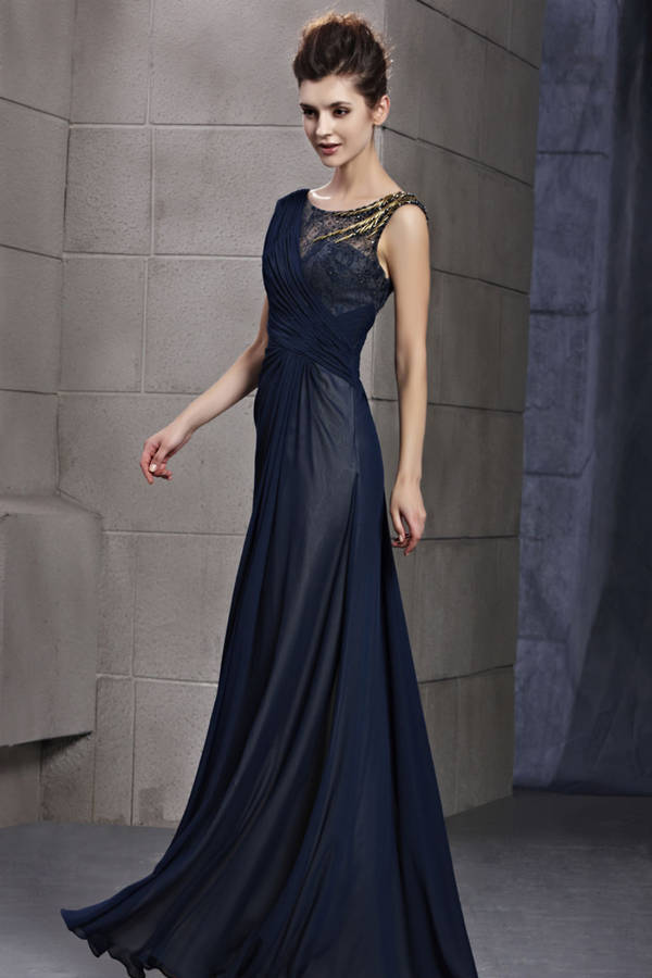 Dark Blue Evening Dress