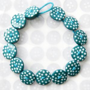 Handmade Polka Dot Button Bracelets - women's jewellery