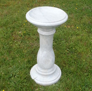 Hand Crafted Marble Bird Bath - birds & wildlife