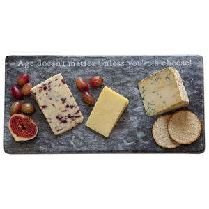 Age Doesn't Matter Marble Cheese Board